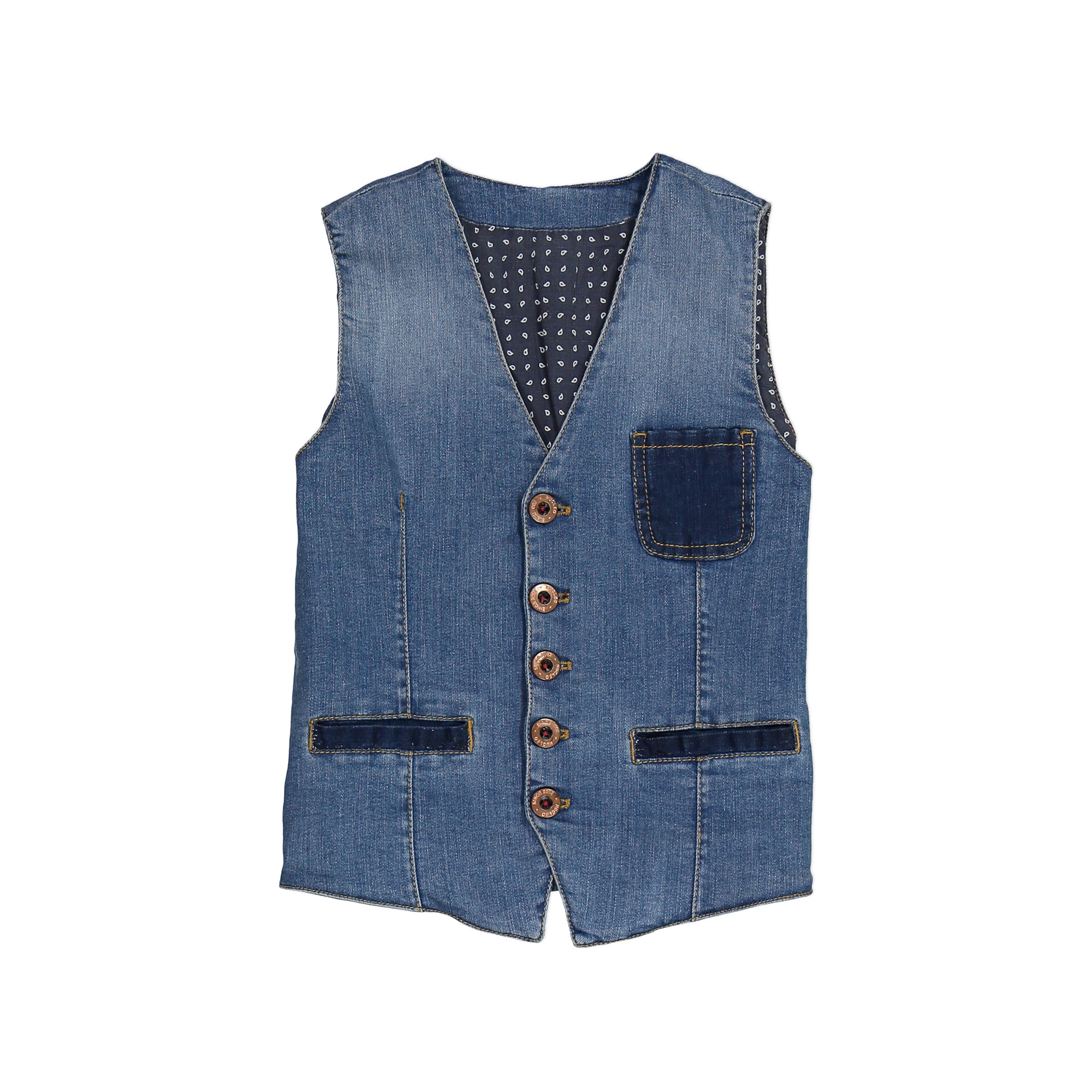 9b697d698a Gilet jeans effetto vintage - Bambino 3-16 Anni | Nucleo Kids Shop